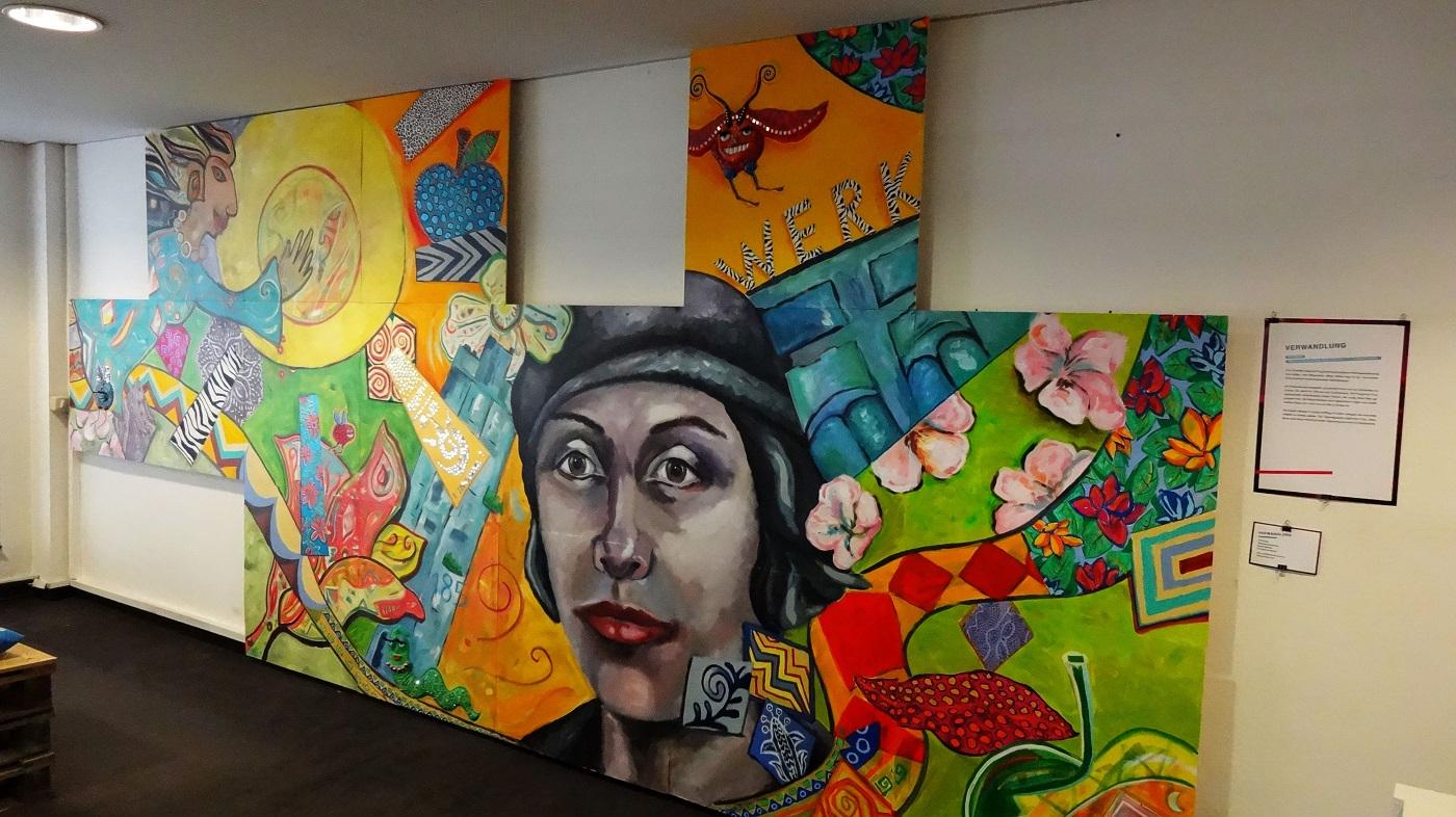 Painting by ARTROoM: Michaela Heidlas-May, Nicole Wächtler and Pia Grambart-Delalic